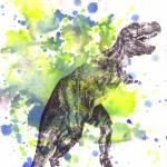 """Tyrannosaurus Rex T-Rex Dinosaur Art"" by idillard"