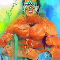 The Ultimate Warrior Art Prints & Posters by Edward Vela