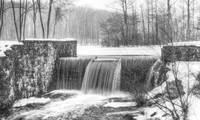 Davidson Mill Pond in Black and White