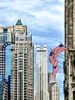 Chicago - Flags Along Michigan Avenue