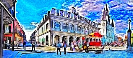 French Quarter Jackson Square Cabildo Photo Paint