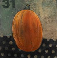 Folk Art Halloween Pumpkin Painting