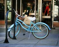 Blue Bicycle at Third Street Promenade