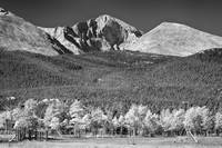 Longs Peak a Colorado Playground In Black and Whit