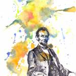 """Portrait of Abraham Lincoln Painting"" by idillard"