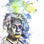 """Albert Einstein portrait painting art"" by idillard"