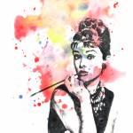 """Audrey Hepburn portrait painting"" by idillard"