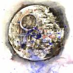 """Star Wars Death Star Art"" by idillard"