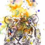 """Tiger portrait painting animal art"" by idillard"