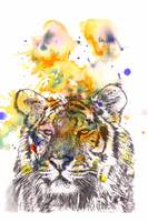 Tiger portrait painting animal art