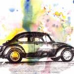 """VW Beetle Car Automobile Art Painting"" by idillard"