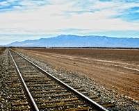 Train Tracks in Arizona Desert