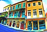 French Quarter Shops in Photo Paint