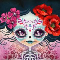 Amelia Calavera Sugar Skull Art Prints & Posters by SANDRA VARGAS