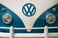 Dark Blue VW Campervan