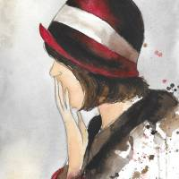 Doris' Hat Art Prints & Posters by Lauren Maurer