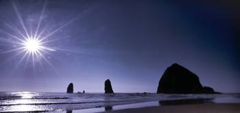Sundown at Haystack Rock