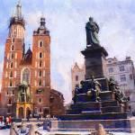 """Adam Mickiewicz statue"" by bogfl"