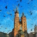 """Cracovia pigeons"" by bogfl"
