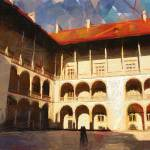 """Wawel castle yard"" by bogfl"