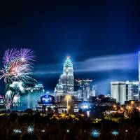 fireworks over charlotte nc Art Prints & Posters by Alexandr Grichenko