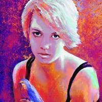 girl on fire Art Prints & Posters by Jane Schnetlage