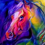 """EQUINE PRISM I"" by MBaldwinFineArt2006"