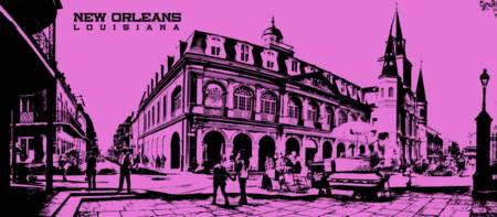 Jackson Square New Orleans in Pink