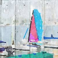 Blue Pacific Boating Art Prints & Posters by Irena Orlov
