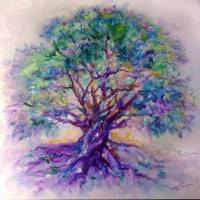 TREE OF LIFE PURPLE RAIN by Marcia Baldwin