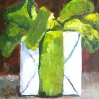 Green Bow Art Prints & Posters by Susan E Jones