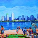 """Beach at Ferry Landing Cornado CA"" by BeaconArtWorksCorporation"