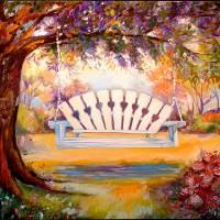 My Garden Swing  by Marcia Baldwin