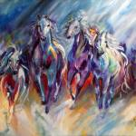 """BLUE THUNDER RUN"" by MBaldwinFineArt2006"