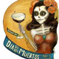 Dia de los Muertos Art Prints & Posters by Nancy Dorsner