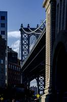 Manhattan Bridge Tower and DUMBO