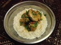 Afghani Chicken Qorma with Cilantro