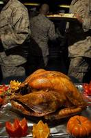 Thanksgiving Turkey for US Military Servicemen