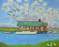 barrier island boathouse