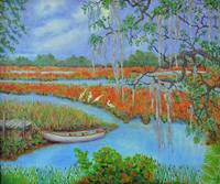 orange low country marsh