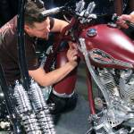 """Pin striping HD shovelhead IMG_1137 (2)"" by KevinDMonaghan"
