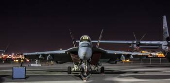 F/A-18 Super Hornet at Night