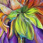 """FLORAL ABSTRACT DAISY"" by MBaldwinFineArt2006"