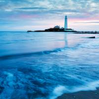 Saint Mary's Lighthouse at Whitley Bay Art Prints & Posters by Ian Middleton