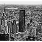 """View from Empire State Building B&W"" by Automotography"