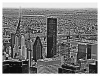 View from Empire State Building B&W