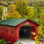 """Scenic Covered Bridge of West Arlington"" by George_Oze"