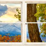 """Colorado Rocky Mountains Rustic Window View"" by lightningman"