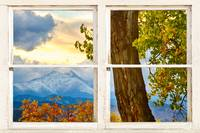 Colorado Rocky Mountains Rustic Window View