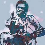 """Johnny Cash  - Stylised Etching Pop Art Poster"" by visualharbour"